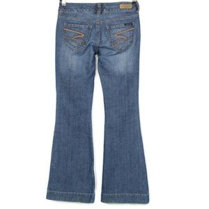 Seven7 Jeans Sexy Flare 29 X 32 Distressed Stretch